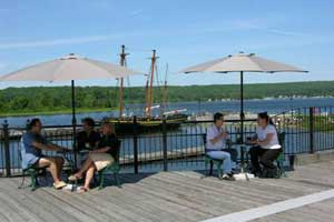 Group dining at Discovery Harbour