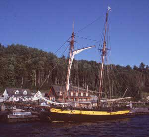 Replica ship H.M.S. Bee at Discovery Harbour