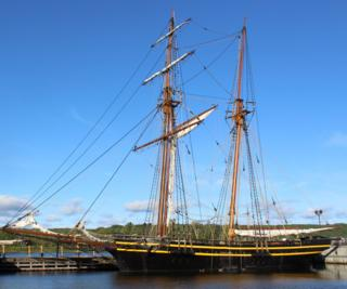 Replica ship H.M.S. Tecumseth at Discovery Harbour