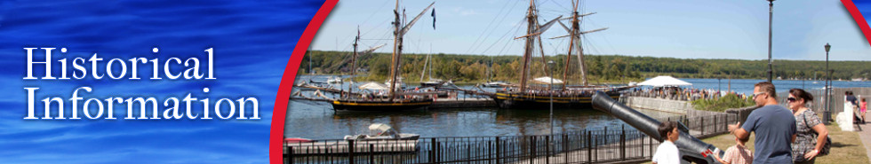 Viewing historic vessels at Discovery Harbour