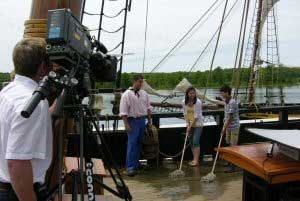 Media event at Discovery Harbour