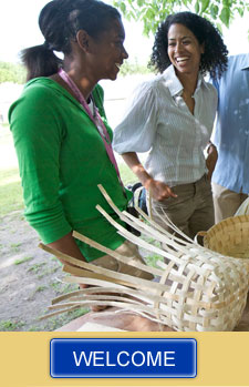 Basket making activity at Sainte-Marie among the Hurons